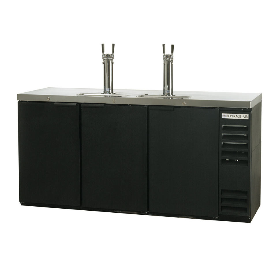 "Beverage Air (Bev Air) DD72Y-1-B Black Beer Dispenser 72"" - 3 Keg Kegerator at Sears.com"