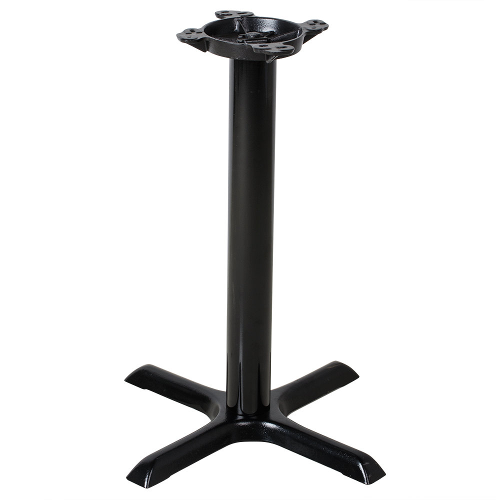 Lancaster table seating 22 black metal table base for Pietement table metal