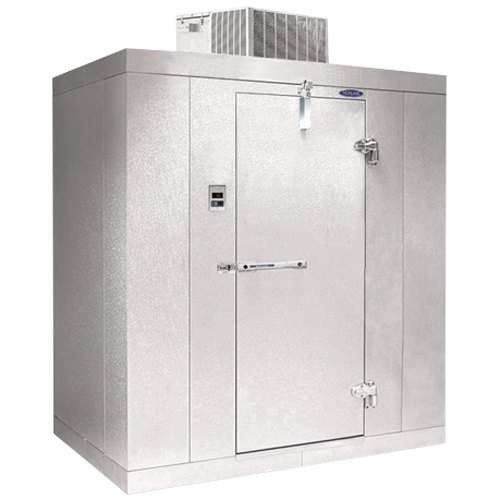 "Rt. Hinged Door Nor-Lake KLF7756-C Kold Locker 5' x 6' x 7' 7"" Indoor Walk-In Freezer"