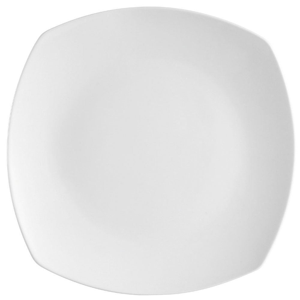 "CAC COP-SQ5 5 1/4"" Coupe Bright White Square Porcelain Plate - 36/Case"