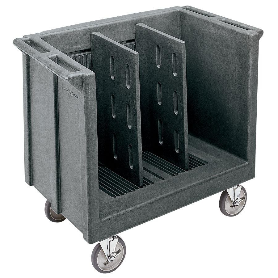 Cambro TDC30191 Granite Gray Adjustable Tray and Dish Cart with Vinyl Cover