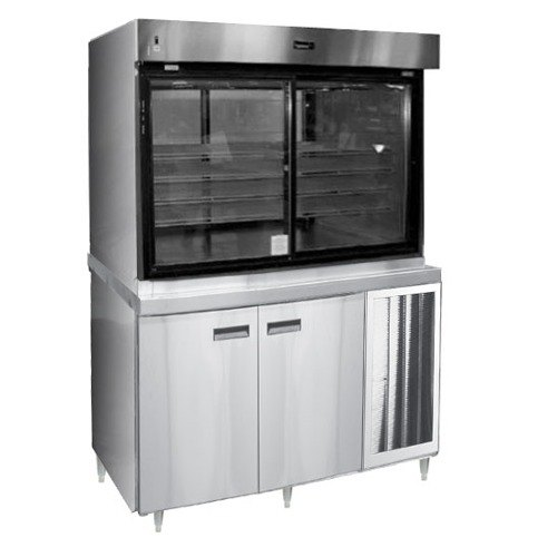 "Delfield F15PC72N 72"" Narrow Depth Refrigerated Display Case with Storage Base and Pass-Through Back - 37.6 Cu. Ft."