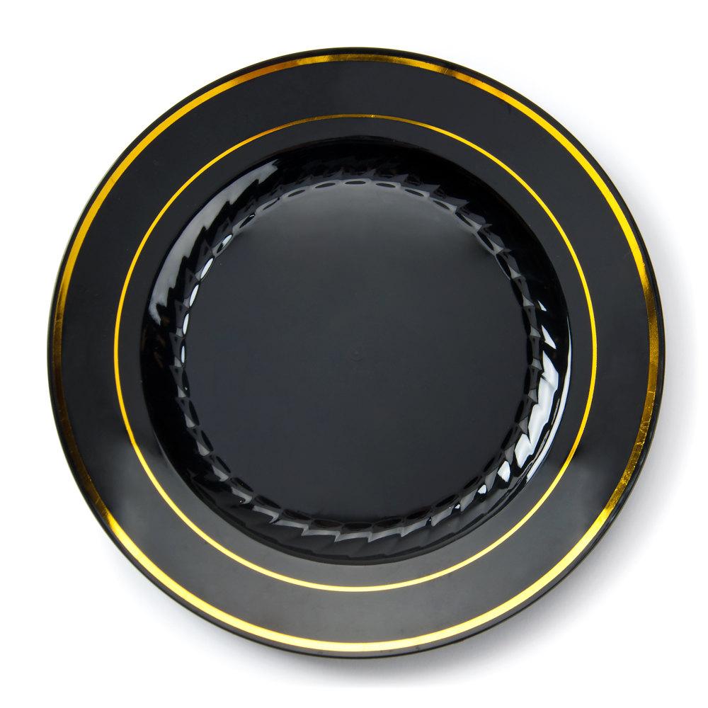 fineline gold splendor black 509 bkg 9 plastic plate with