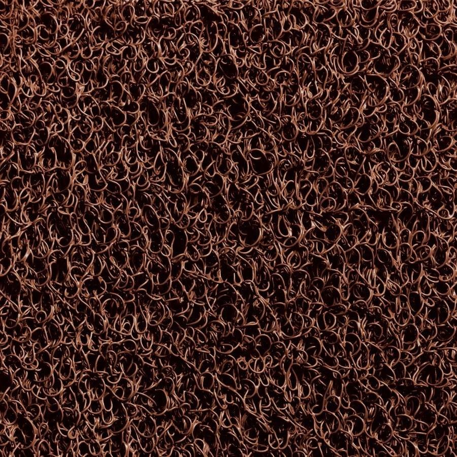 Cactus Mat 1451R-B3 Vinyl-Coil 3' Wide Brown Scraper Mat Roll - 3/8'' Thick