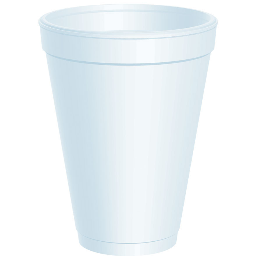Dart 12J12 12 oz. White Customizable Foam Cup 1000/Case