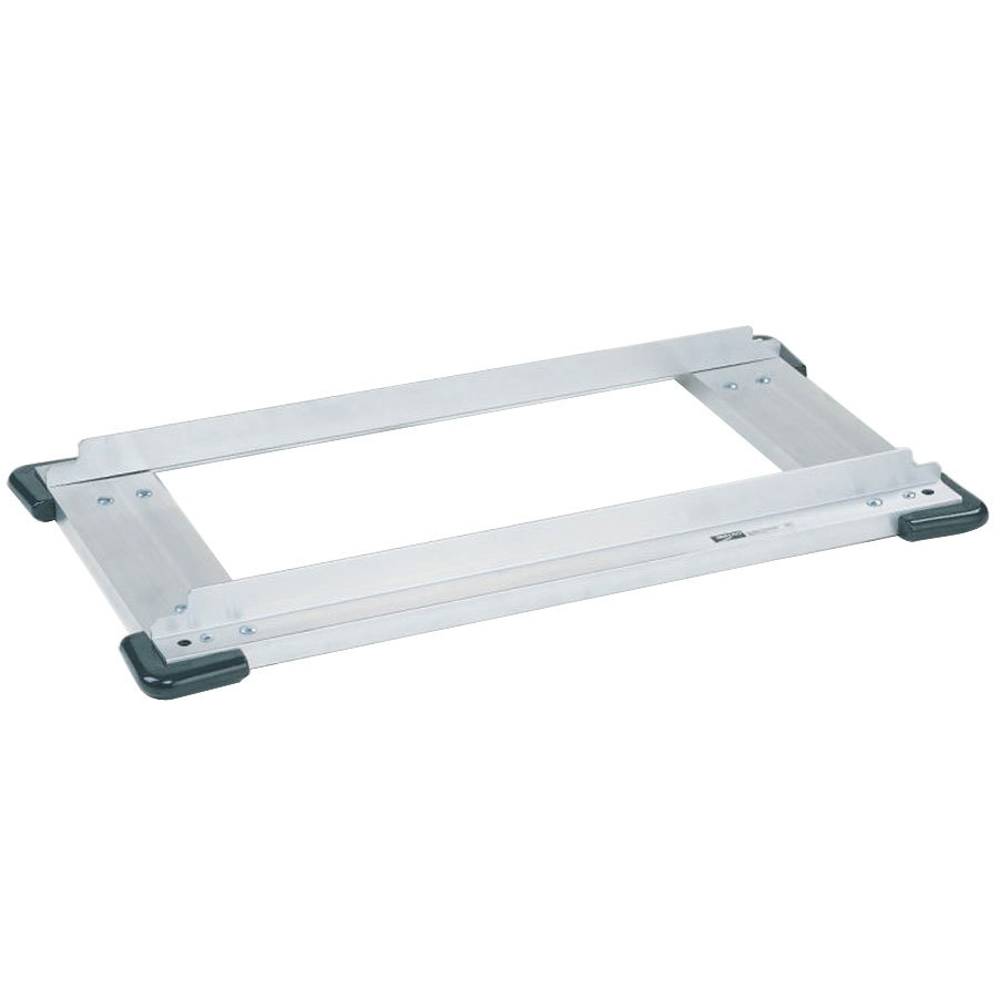 "Metro Super Erecta D2448NCB Aluminum Truck Dolly Frame with Corner Bumpers 24"" x 48"""