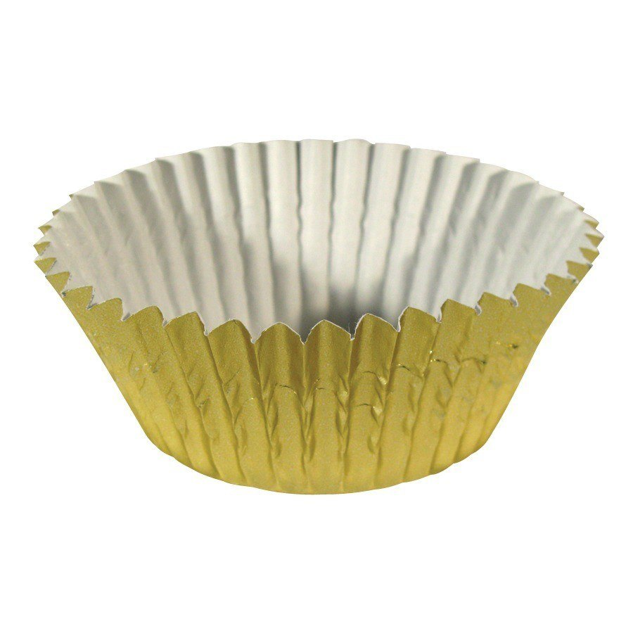 Ateco 6431 2 inch x 1 1/4 inch Gold Baking Cups 200 / Box (August Thomsen)