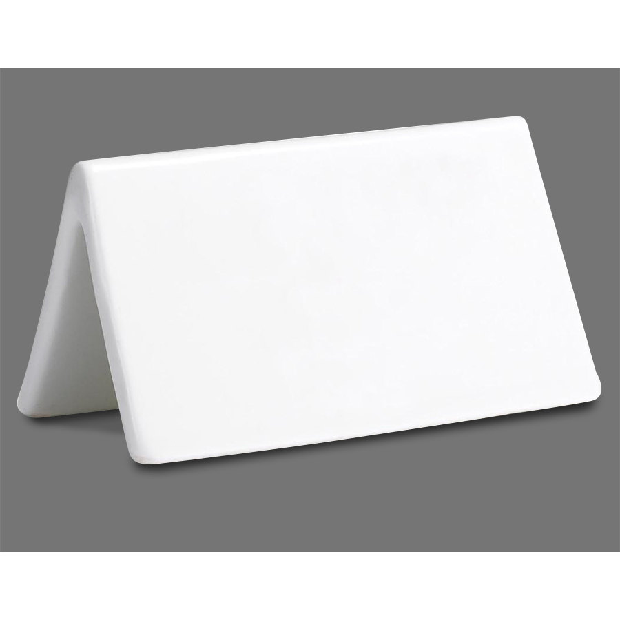 Tablecraft p16 ceramic dry erase table tent sign double for 1 x 2 table