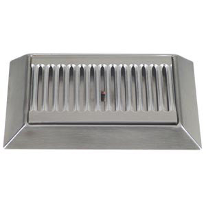 "Micro Matic DP-420D 9"" Stainless Steel Bevel Edge Drip Tray with 1/2"" ID Drain"
