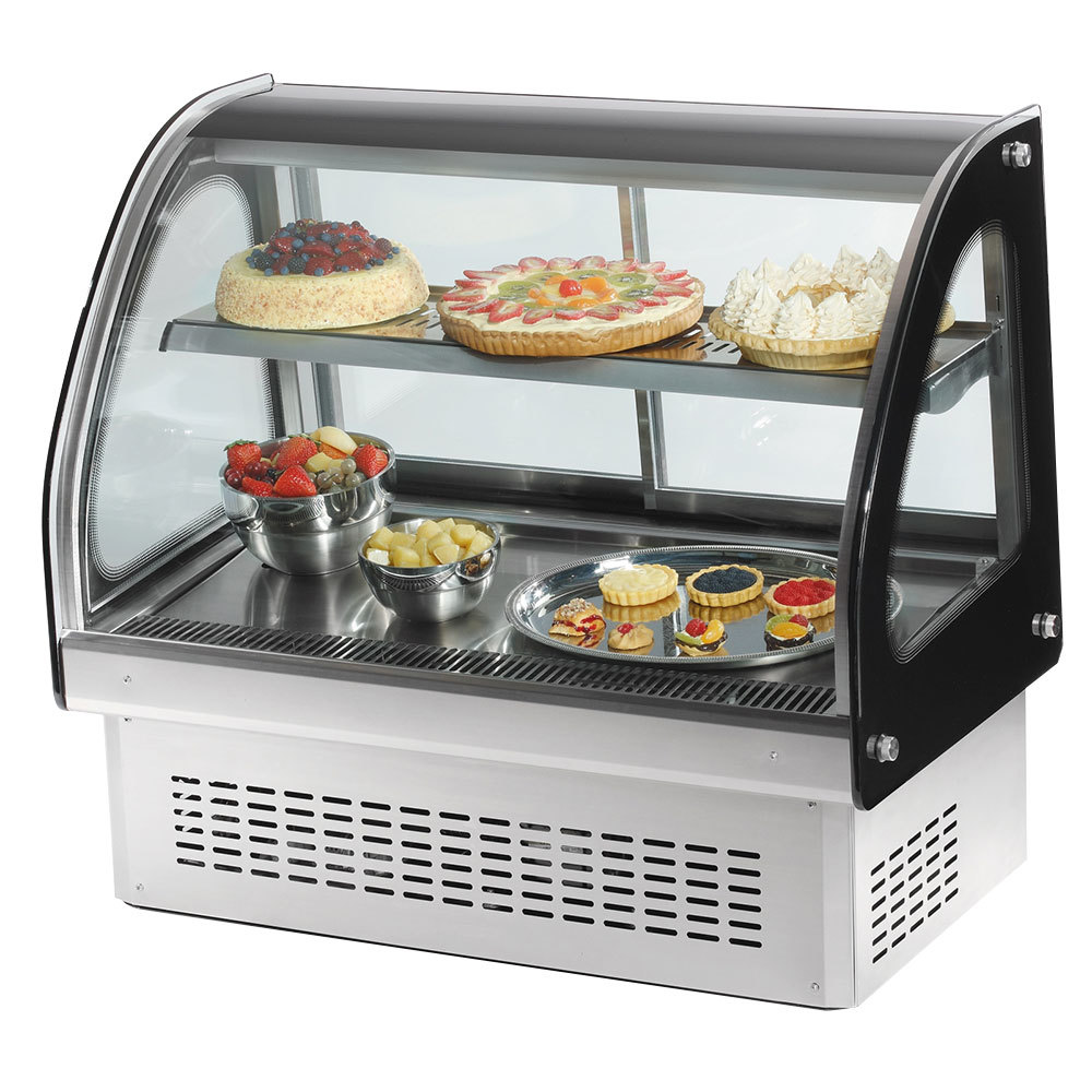 "Vollrath 40842 36"" Curved Glass Drop In Refrigerated Countertop Display Cabinet"