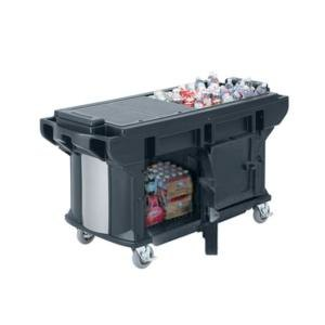 Cambro VBRUTHD6186 Navy Blue 6? Versa Ultra Work Table with Storage and Heavy-Duty Casters at Sears.com