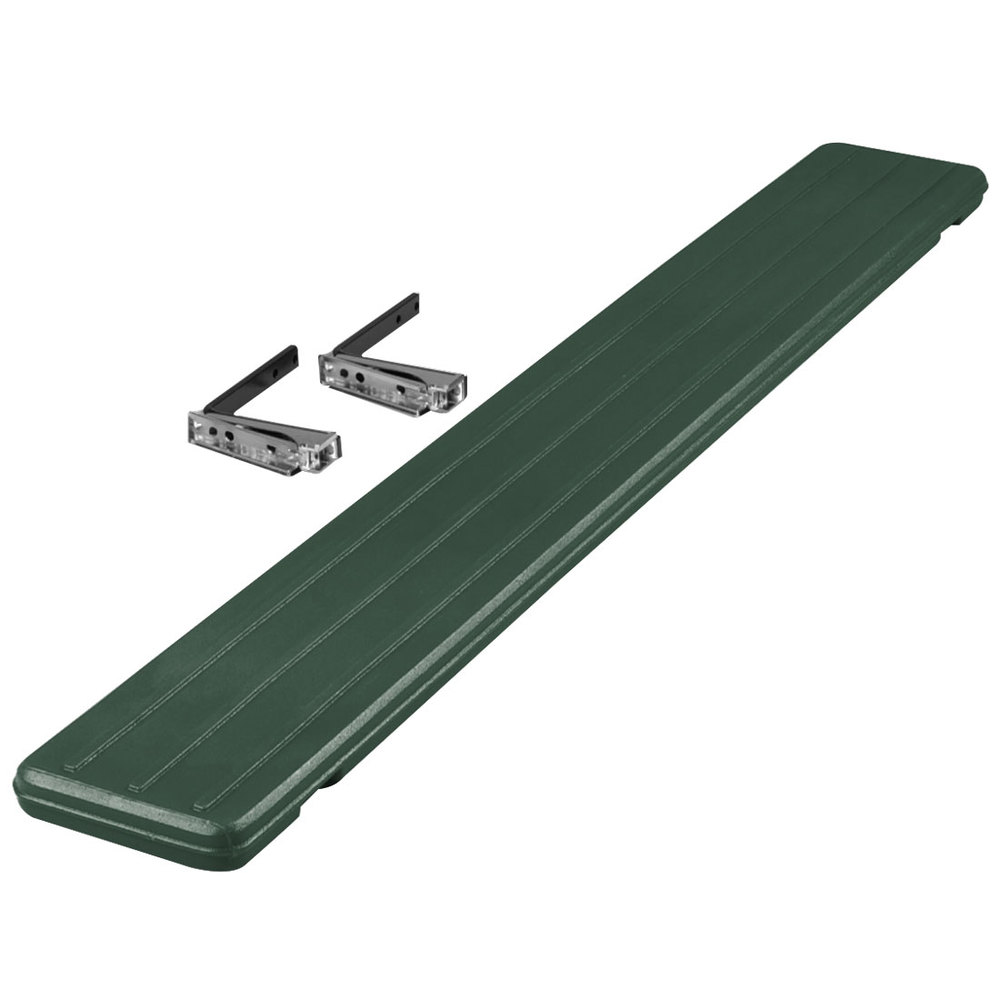 "Carlisle 662108 Forest Green Tray Slide for 6' ""Six Star"" Portable Food Bars"