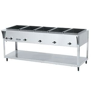 Vollrath 38215 ServeWell SL Electric 5 Well Hot Food Table 120V - Sealed Well