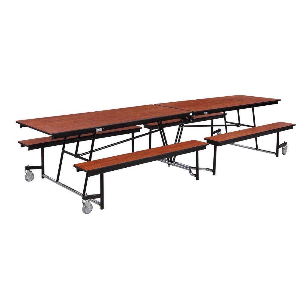 national public seating mtfb8 8 foot mobile cafeteria table with particleboard core. Black Bedroom Furniture Sets. Home Design Ideas