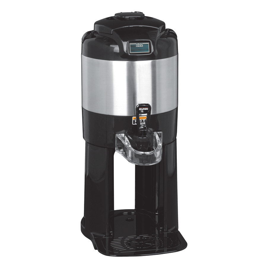 Bunn TF 1 Gallon Digital ThermoFresh Coffee Server with Attached Base - Stainless Steel (Bunn 42700.0000)