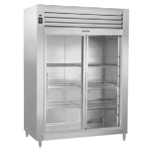 Traulsen RHT232NUT-FSL Stainless Steel 46 Cu. Ft. Two Section Narrow Sliding Glass Door Reach In Refrigerator - Specification Line