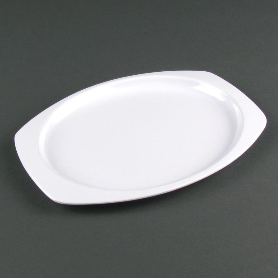 Heavy Duty Melamine : Nustone melamine ns w white rectangular platter quot