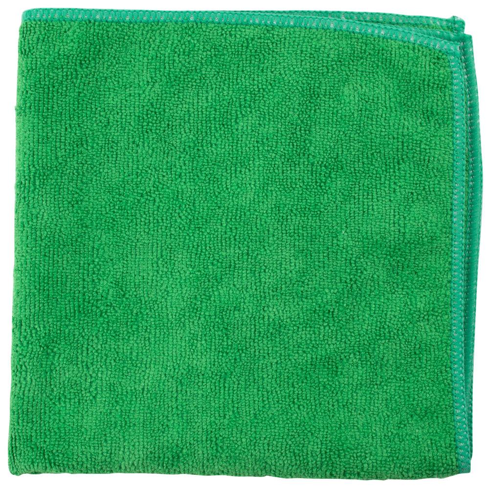 "Microfiber Cloth Guide: Unger MC400 SmartColor MicroWipe 16"" X 16"" Green Light"