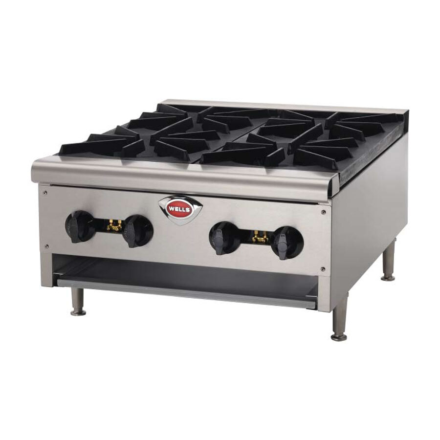 "Wells HDHP-1230G Heavy Duty 12"" Gas Countertop Hot Plate - 43,000 BTU at Sears.com"
