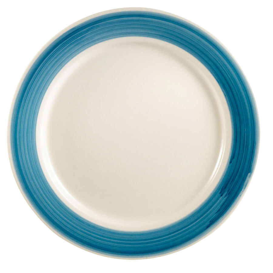 "CAC R-5-BLU Rainbow Plate 5 1/2"" - Blue - 36/Case"