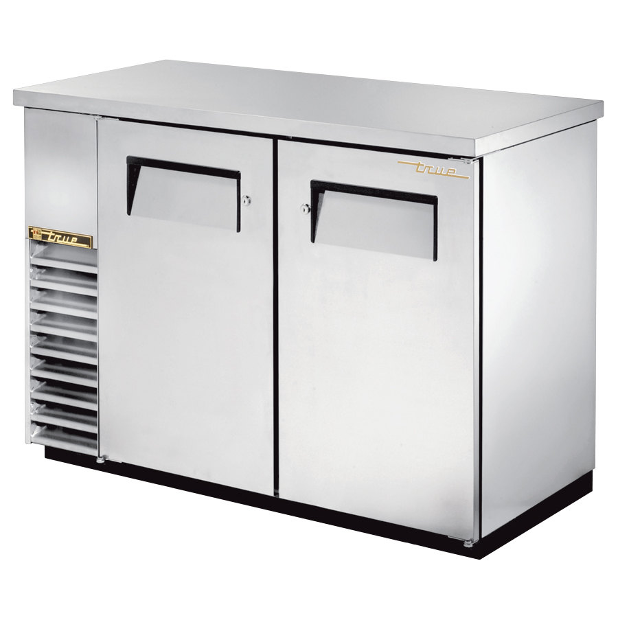 "True Refrigeration True TBB-24-48-S 49"" Back Bar Cooler Stainless Steel with Solid Doors - 24"" Deep at Sears.com"