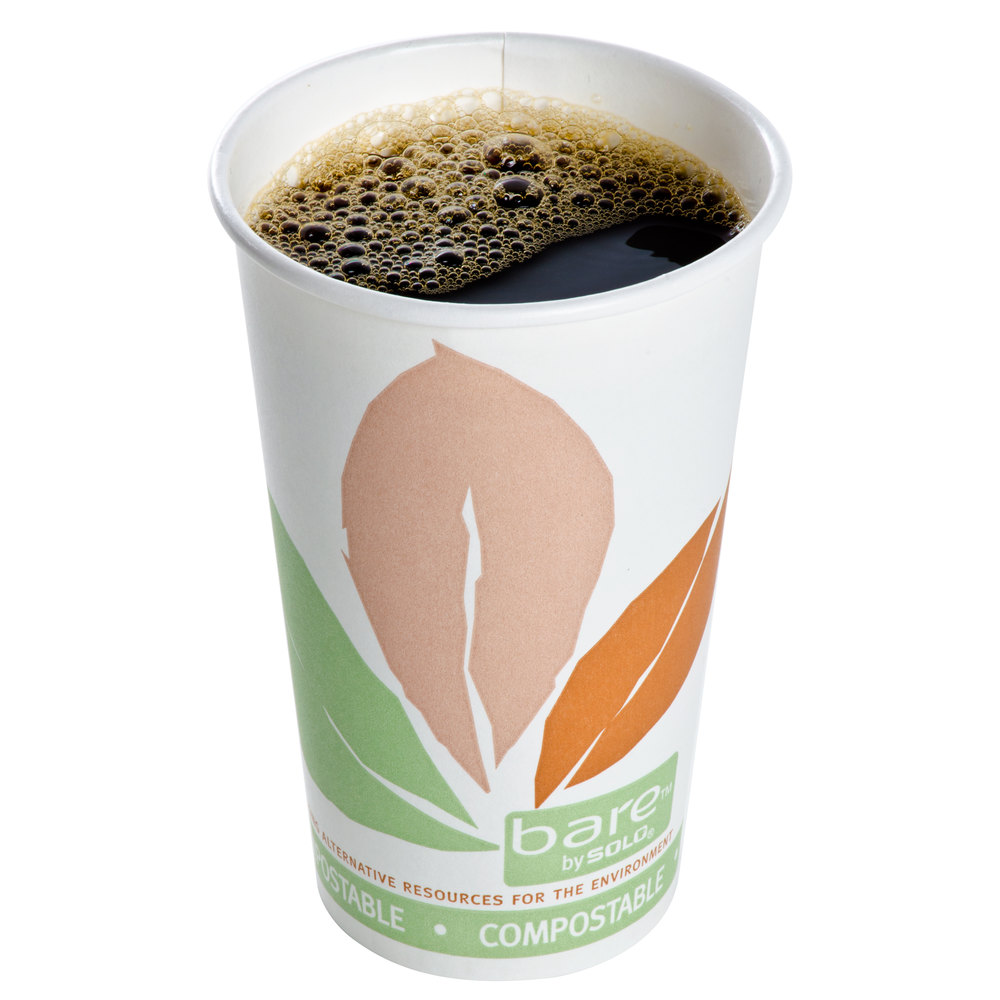 Dart Solo 316PLA-J7234 Bare Eco-Forward 16 oz. Paper Hot Cup - 50 / Pack