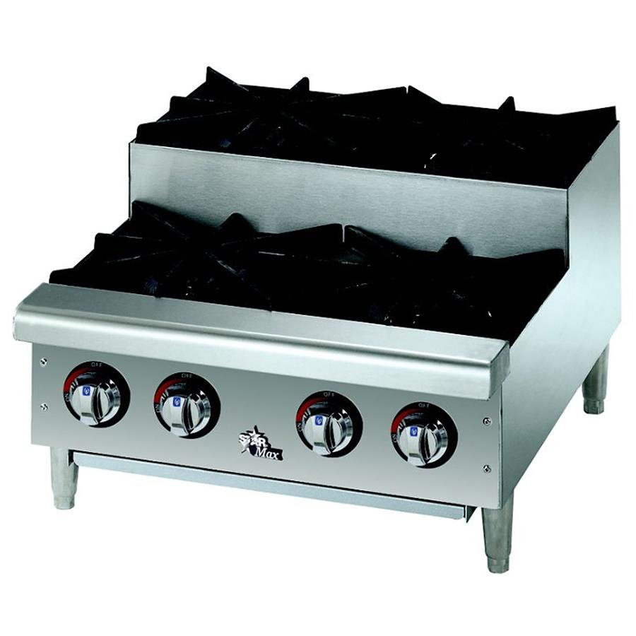 Star Max 606HF-SU 6 Burner Step Up Countertop Range / Hot Plate 150,000 BTU - 36 inch