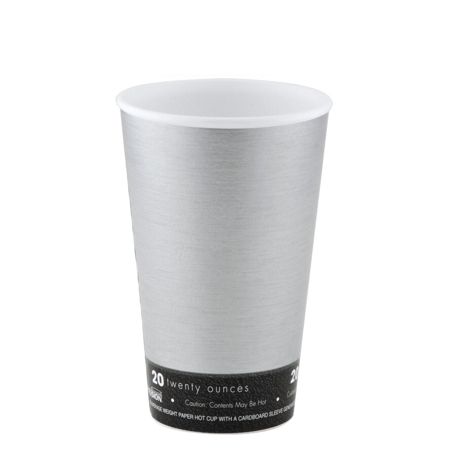 Dart 20U16FS Fusion Steele 20 oz. Customizable Foam Hot Cup 500 / Case