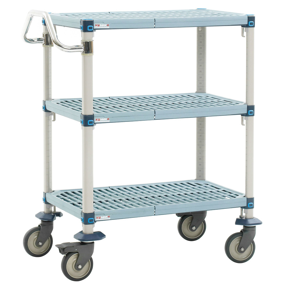 "Metro MQUC2436G-35 MetroMax Q Utility Cart with 5"" Polyurethane Casters 24"" x 36"""