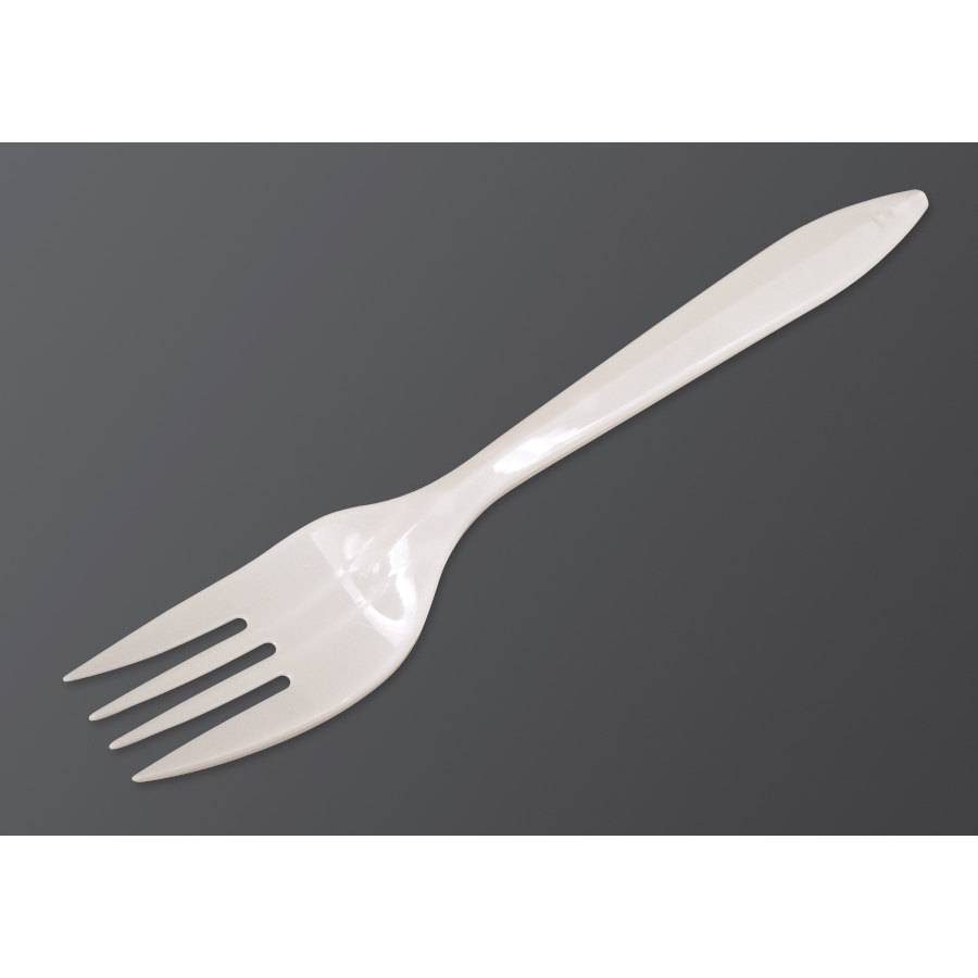 Dart F6BW Medium Weight White Plastic Fork 1000/Case