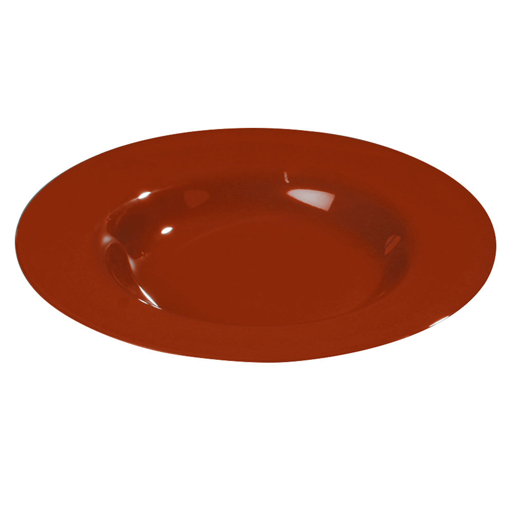 "Carlisle 3303405 Sierrus 9 1/4"" Red Pasta / Soup / Salad Bowl - 24/Case"