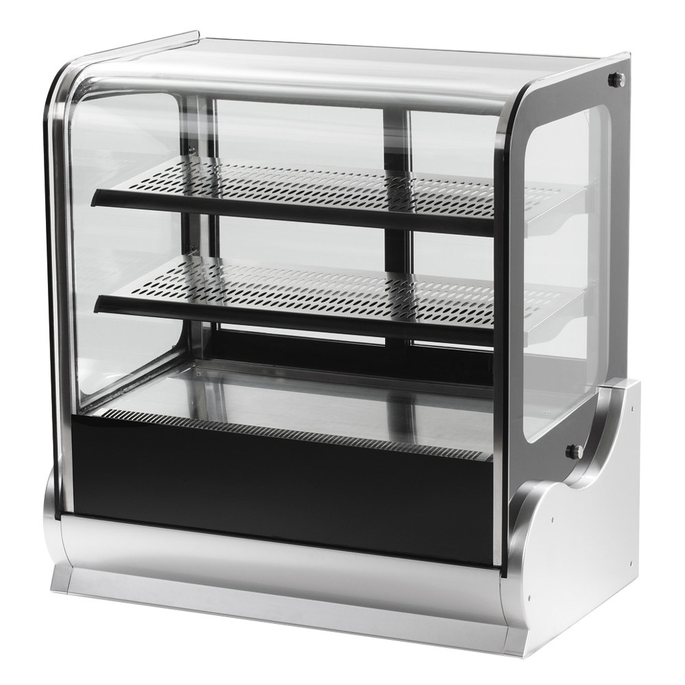 "Vollrath 40864 60"" Cubed Glass Refrigerated Countertop Display Cabinet"