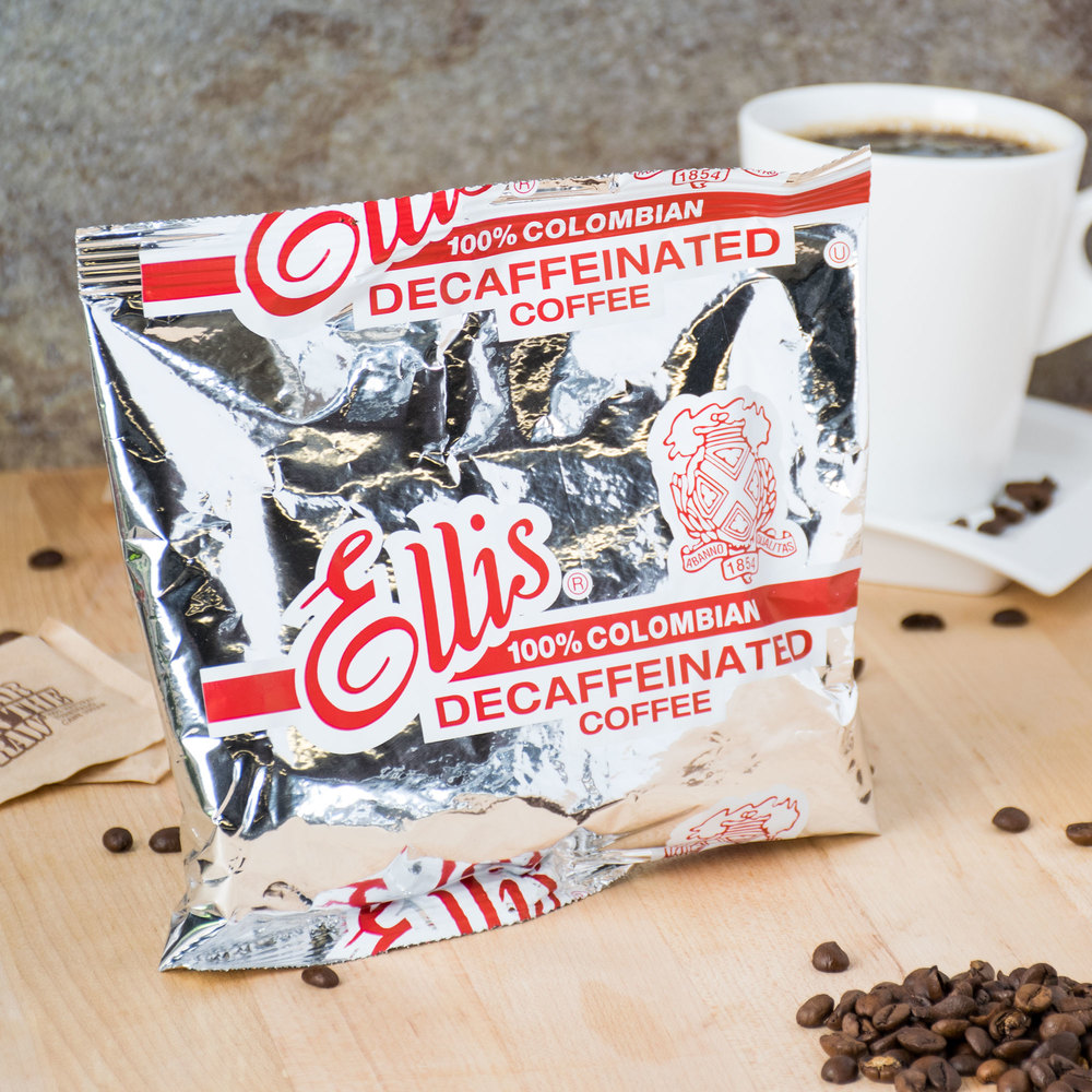Ellis Colombian Decaf Coffee- (48) 6 oz. Packets / Case