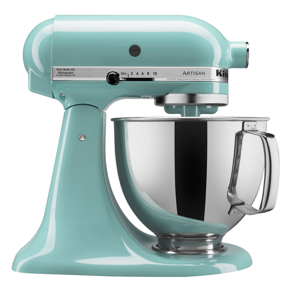 Mixer Kitchen: KitchenAid KSM150PSAQ Aqua Sky Artisan Series 5 Qt