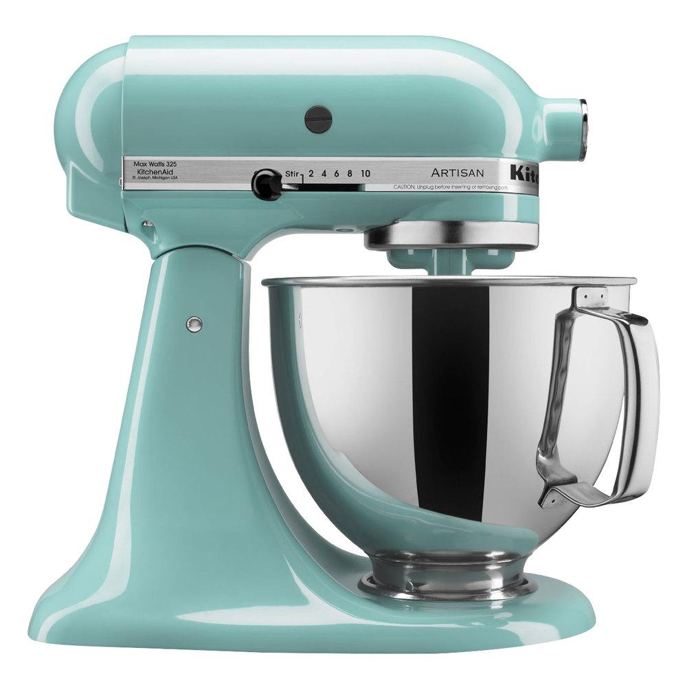 Kitchenaid ksm150psaq aqua sky artisan series 5 qt countertop mixer - Kitchenaid qt mixer review ...