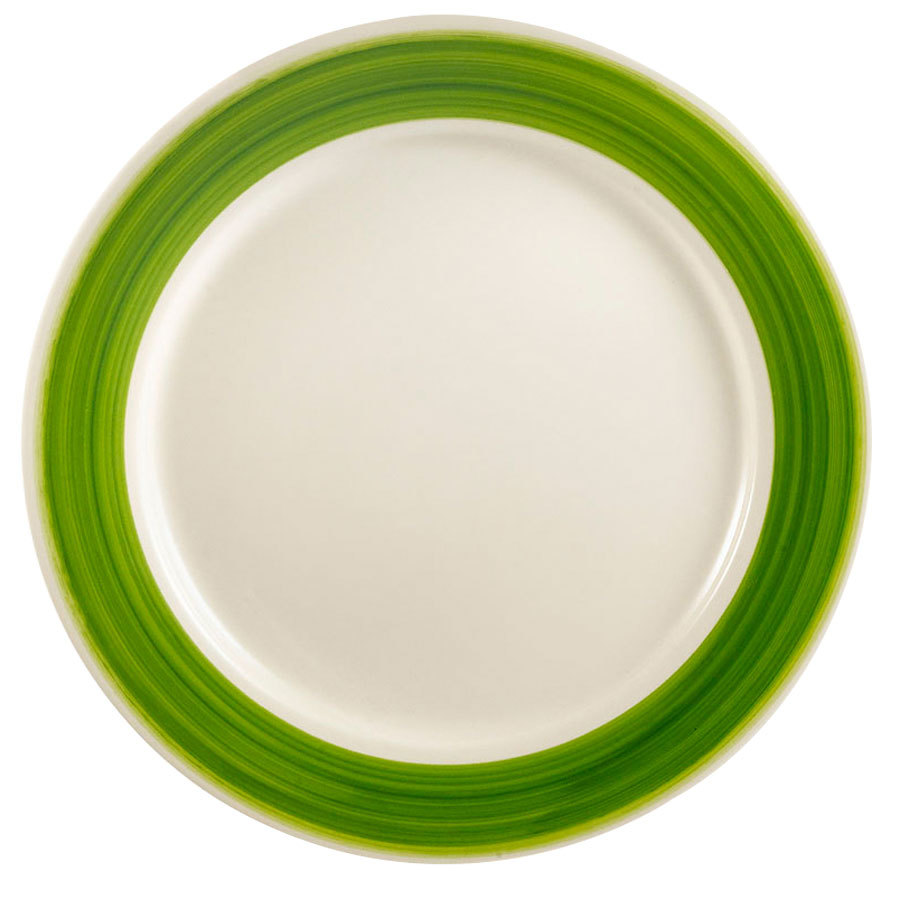 "CAC R-6-G Rainbow Plate 6 1/2"" - Green - 36/Case"