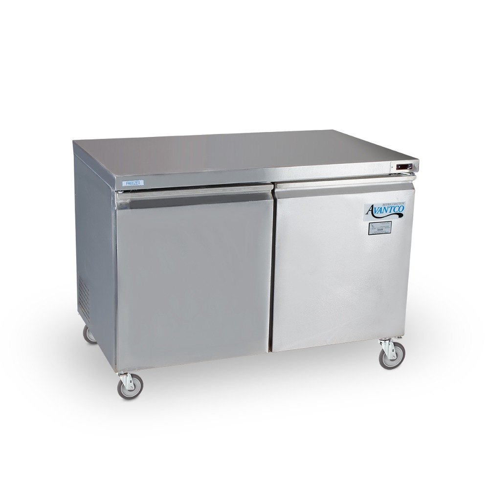 Avantco TUC48F 48 inch Double Solid Door Undercounter Freezer