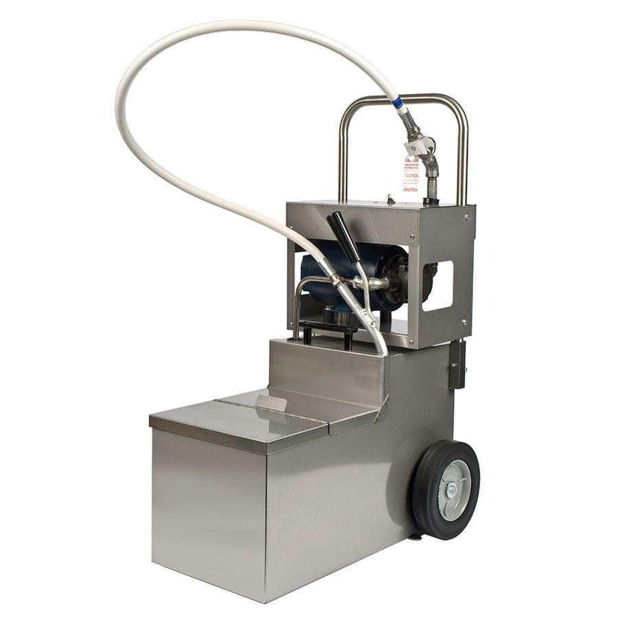 MirOil MOD 1050 105 lb. Fryer Oil Electric Filter Machine and Discard Trolley