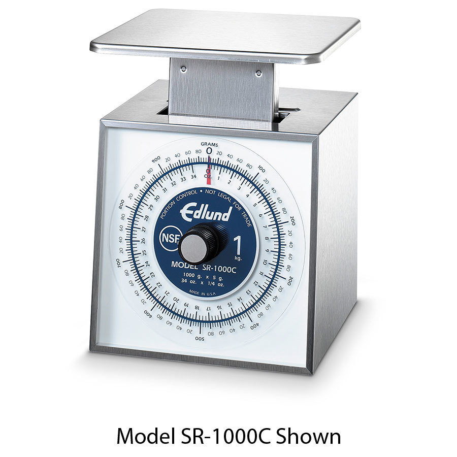 Edlund SR-11000 C Combination US and Metric 25 lbs. / 11 kg. Portion Control Scale with 6 inch x 6 3/4 inch Platform