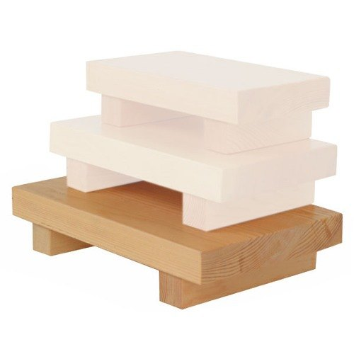 "Large Wood Sushi Serving Board -10 1/2"" x 7"" x 2 1/4"" - 6/Pack"