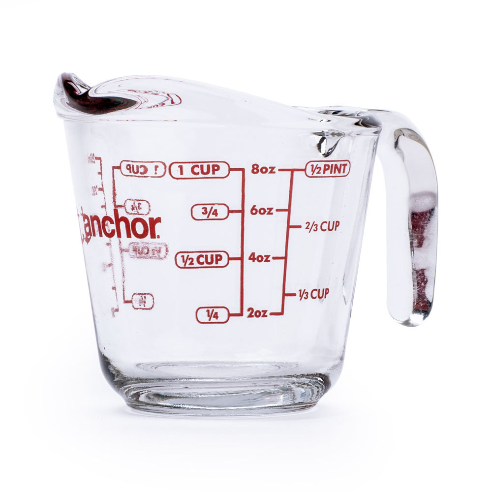 Anchor Hocking 55175OL 8 oz. 1 Cup Glass Measuring Cup (55175OL) at Sears.com