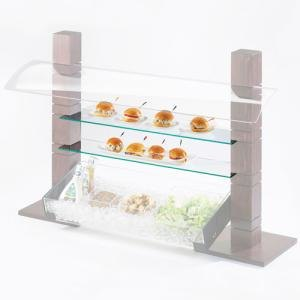 Cal Mil C732GLASS Glass Stand Shelf for 79152 – 32 inch x 7 inch x 1/4 inch