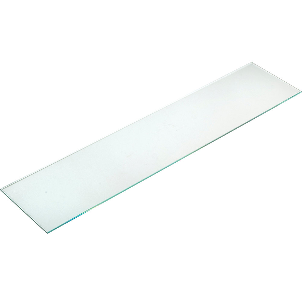 "Cal-Mil C732GLASS 7"" x 32"" Glass Rectangular Shelf for Display Risers"