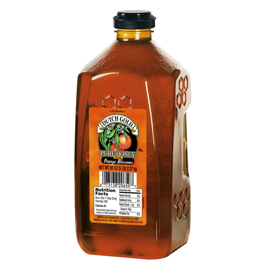 Dutch Gold Bulk Orange Blossom Honey - 5 lb.