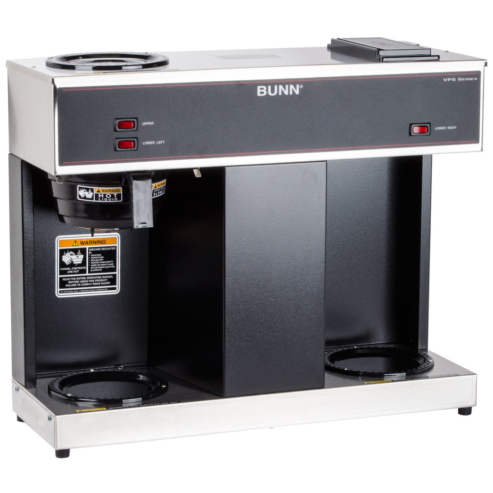 Bunn 04275.0031 VPS 12 Cup Pourover Coffee Brewer with 3 Warmers - 120V