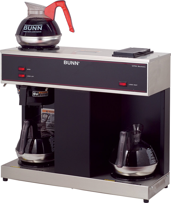 Bunn VPS 12 Cup Pourover Coffee Brewer with 3 Warmers - 120V (Bunn 4275.0031)