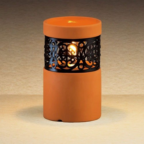 "Sterno Products 80248 4 1/2"" Terracotta Ceramic Liquid Candle Holder"