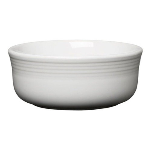 Homer Laughlin 576100 Fiesta White 22 oz. Chowder Bowl - 6 / Case