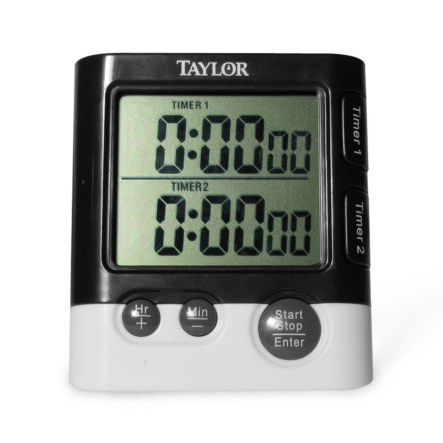 Taylor 5828 Dual Event Timer with Clock and Date