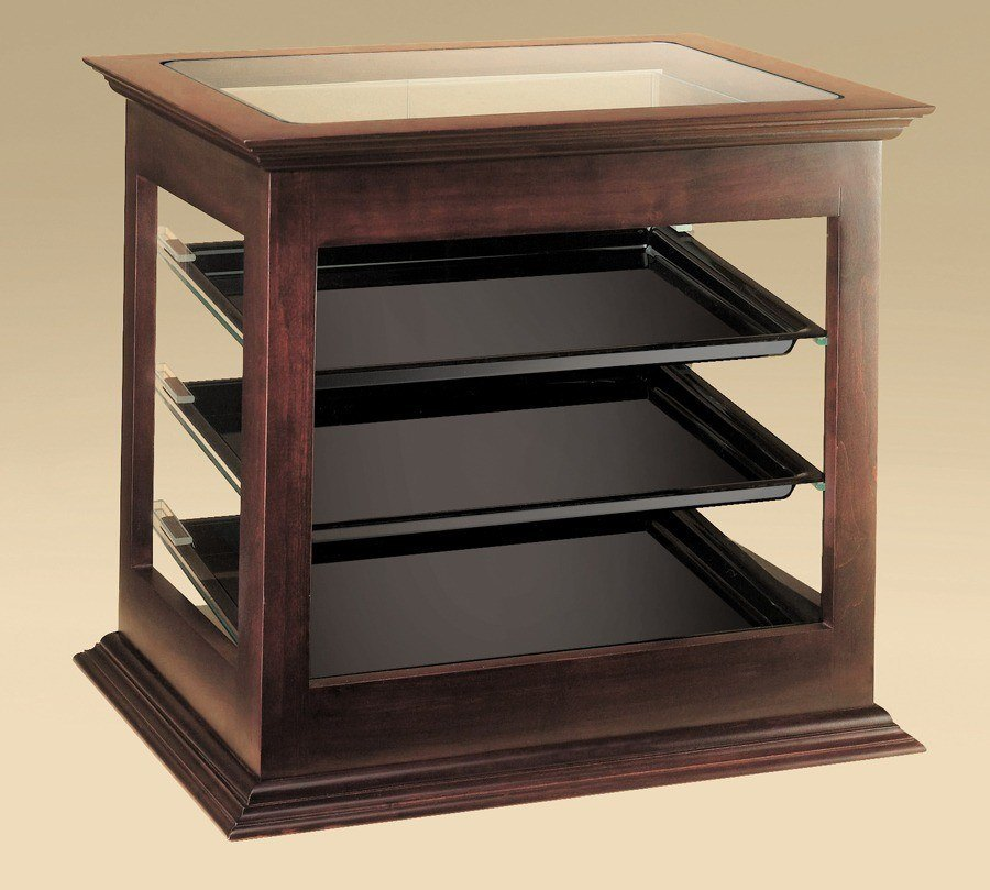 Cal Mil 284-52 Wood Frame Bakery Display Case with Rear Door 21 3/4 inch x 18 1/2 inch x 20 1/4 inch